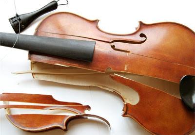 broken violin