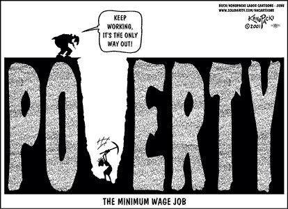 poverty of the working