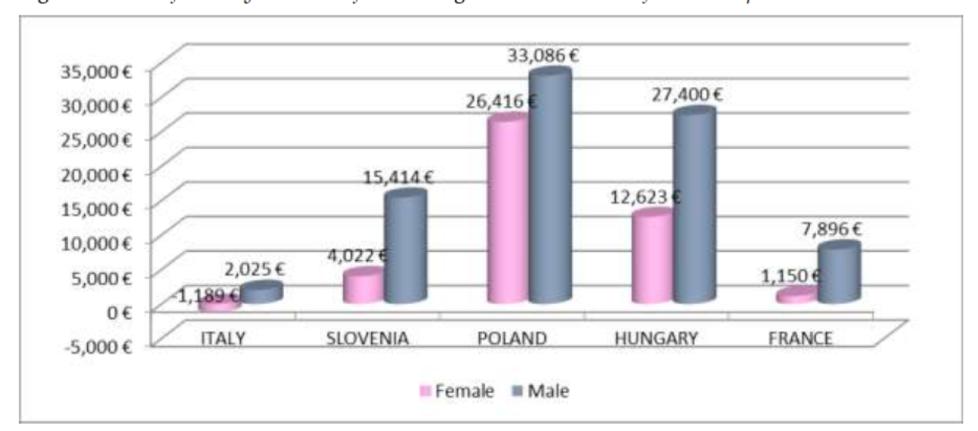 Valore medio dell'investimento negli studi universitari nei diversi paesi
