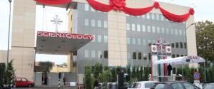 Lo stabile in viale Fulvio Testi a Milano che ospita la nuova sede di Scientology che verra' inaugurata sabato prossimo, 29 ottobre 2015. ANSA / MATTEO BAZZI