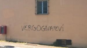 Pescara - scritta Questura