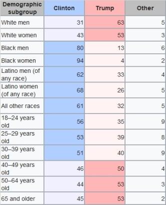 demografia del voto